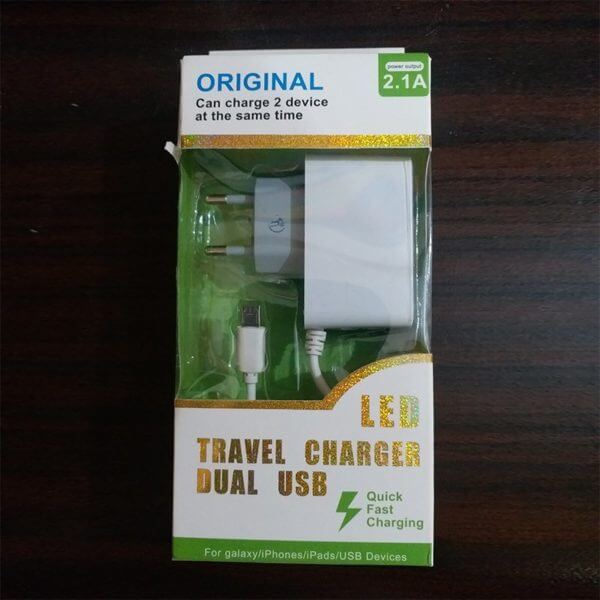 LED Travel Charger Dual Usb 01