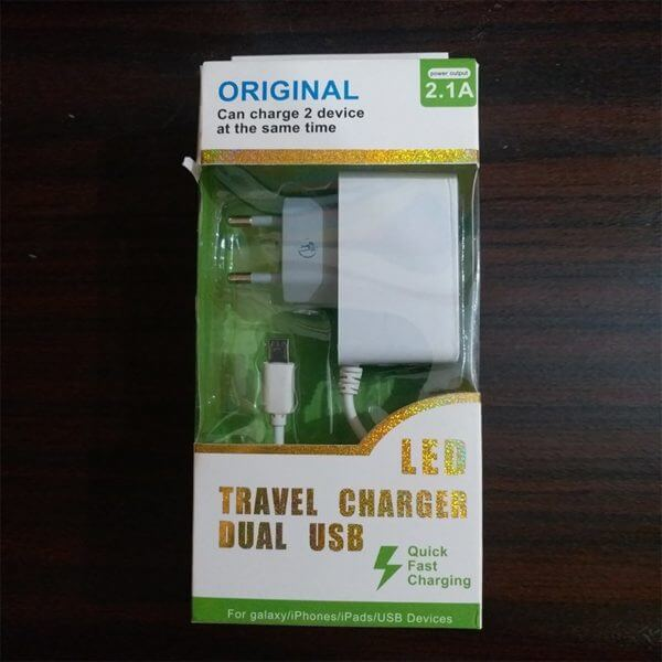 LED Travel Charger Dual Usb 02