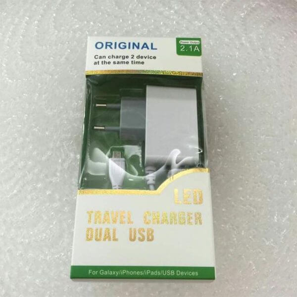 LED Travel Charger Dual Usb