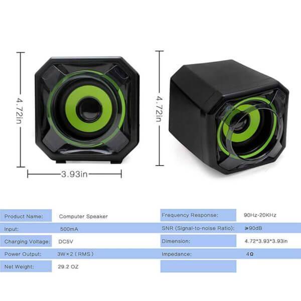 USB 2.0 Mobile Desktop Speaker A8 (6)