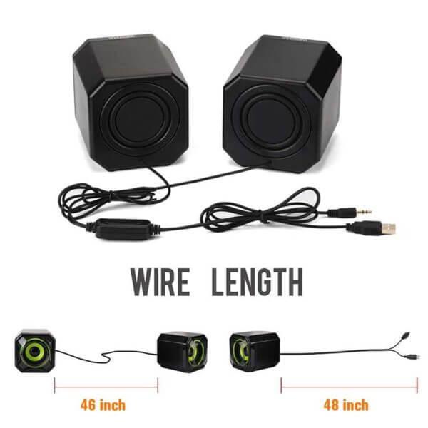 USB 2.0 Mobile Desktop Speaker A8 (8)
