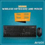 A4tech 3000N Wireless Keyboard Mouse
