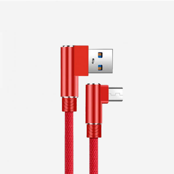 L-Shape 90 Degree Android Fast Charging Data Cable