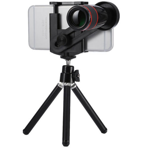 Mobile Phone Tripod Telescope 12x Lens With Stand (1)