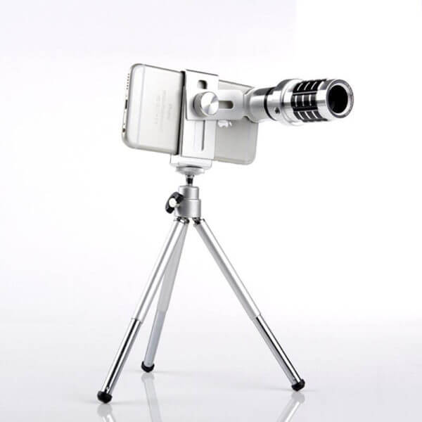 Mobile Phone Tripod Telescope 12x Lens With Stand