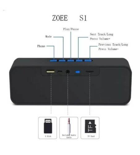 Mega Bass A2DP Portable Bluetooth Speaker (2)